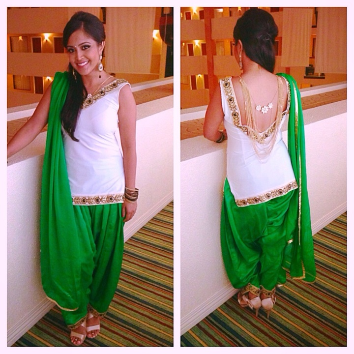 Indian Party: What I Wore & My DIY BackNecklace