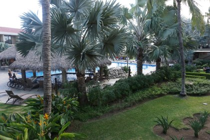A view of the pool from the room